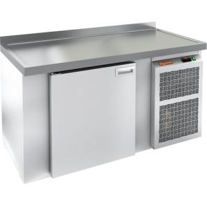 Cтол холодильный для кег и розлива пива, L1.51м, борт H50мм, 1 дверь глухая, ножки, 355л, -2/+10С, пластификат, дин.охл., агрегат правый, 2 кега, стол