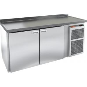 Cтол холодильный для кег и розлива пива, L1.95м, борт H50мм, 2 двери глухие, ножки, 510л, -2/+10С, пластификат, дин.охл., агрегат правый, 3 кега, стол
