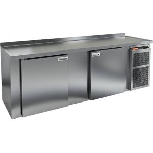 Cтол холодильный для кег и розлива пива, L2.40м, борт H50мм, 2 двери глухие, ножки, 570л, -2/+10С, нерж.сталь, дин.охл., агрегат правый, 4 кега