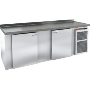 Cтол холодильный для кег и розлива пива, L2.40м, борт H50мм, 2 двери глухие, ножки, 570л, -2/+10С, пластификат, дин.охл., агрегат правый, 4 кега, стол