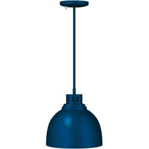 Лампа-мармит подвесная, синяя, несгибаемый стержень, б/лампочки
