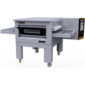 Печь для пиццы электрическая, конвейерная, 1 камера 500x750x100мм, электронное управление, нерж.сталь, подставка передвижная