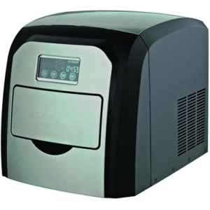 Льдогенератор для кускового льда,  10кг/сут, бункер 0,6кг, возд.охлаждение, корпус нерж.ст.+пластик, форма «пальчик» 28х28х30мм, настольный, заливной