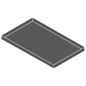 Противень для печи конвекционной, 600х400х40мм, алюминизированный