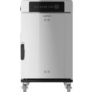 Печь-коптильня электрическая напольная, 1 камера 7х(457х660), 76л, электронное упр., дверь глухая, 2 полки-решётки, нерж.сталь, щуп, колеса