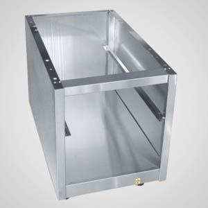 Подставка под оборудование,  400х691х540мм, без столешницы, полузакрытая без двери, нерж.сталь 304, для 700 линии, направляющие для 1GN1/1 (Уценённое)