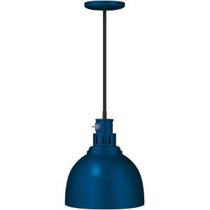 Лампа-мармит подвесная, синяя, шнур чёрный 0,22м, лампочка прозр. с покрытием