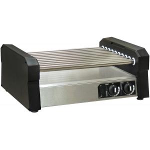 Гриль для сосисок роликовый, настольный, 10 роликов нерж.сталь, электромех.управление, корпус нерж.сталь, 27шт.