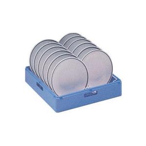 Корзина посудомоечная для тарелок глубоких, 500х500мм, пластик голубой, вместимость 16 штук