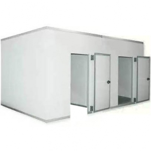 Камера комбинированная из строительных панелей,  16.20м3, h2.58м, 2 двери расп.правые б/порога, ППУ80мм, холод. секция №32 б/пола, мороз. секция №34 с