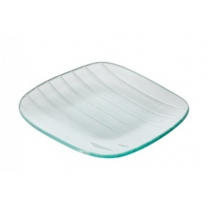 Тарелка квадратная L 16см w 16см Corone Aqua, стекло