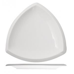 Тарелка мелкая L 18см треугольная Kunstwerk, фарфор белый
