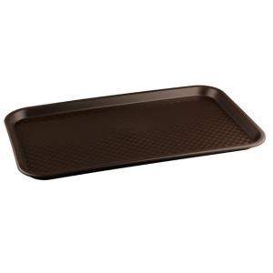Поднос L 52,5см w 32,5см прямоугольный, полипропилен коричневый
