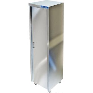 Шкаф кухонный,  600х500х1750мм, 1 дверь правая, 3 полки сплошные, нерж.сталь 430, сварной, задняя стенка из оцинкованной стали