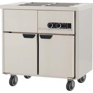Мармит электрический для вторых блюд, L0.86м, без борта, 2GN1/1, нагрев паровой, шкаф тепловой, нерж.сталь, ролики