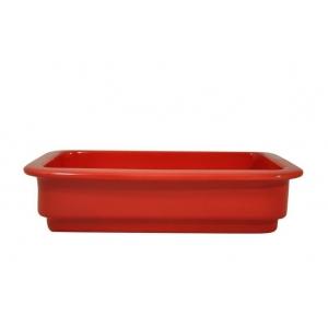 Гастроемкость GN1/4х65, фарфор, красная