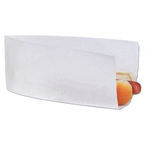 Уголок для хот-дога 220х80х40мм бумага белый