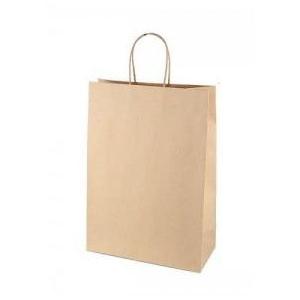 Пакет бумажный 250х220х120мм с крученой ручкой прямоугольное дно крафт