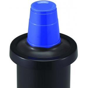 Диспенсер для стаканов 236-1360мл, D73/121мм, встраиваемый, манжеты черные