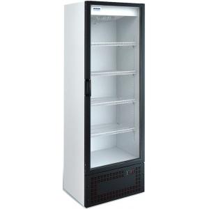 Шкаф холодильный,  370л, 1 дверь стекло, 4 полки, ножки,  -6/+6C, дин.охл., белый, агрегат нижний