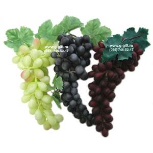 Виноград гроздь L 27см, пластик красный