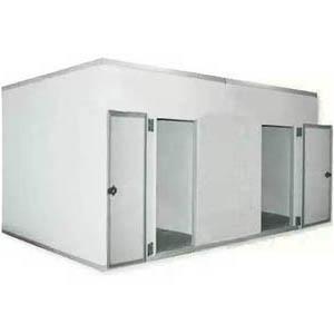Камера комбинированная из строительных панелей,  26.30м3, h2.40м, 2 двери расп.правая/левая, ППУ100мм, без порога, 2 секции, завесы, клапан давления