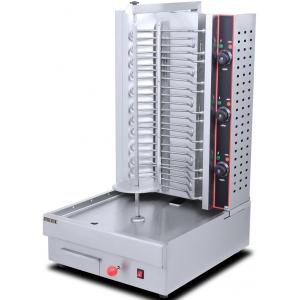 Гриль для шаурмы электрический, загрузка 45кг, 6 ТЭНов, 1 вертикальный шампур, электрический привод, нержавеющая сталь, 380V