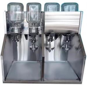Дозатор начинок для пончиков, механический, 4 насадки с 6 иглами, 4 емкости стекло, на четыре начинки, рекламный фриз, подсветка