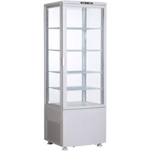 Витрина холодильная напольная, вертикальная, L0.52м, 4 полки, 0/+12С, дин.охл., белая, 4-х стороннее остекление