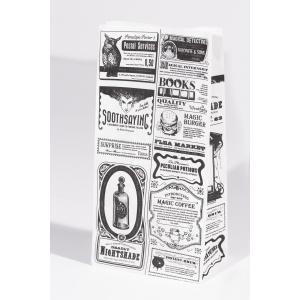 Пакет бумажный 210х105х60мм Magic News прямоугольное дно
