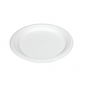 Тарелка 178мм круглая сахарный тростник белая
