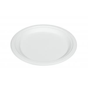 Тарелка 260мм круглая сахарный тростник белая