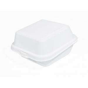 Бургер-бокс 155х150х65мм сахарный тростник белый