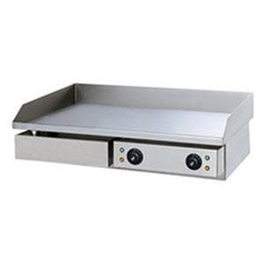 Гриль-сковорода электрическая, 2 зоны, поверхность гладкая стальная, борт, настольная