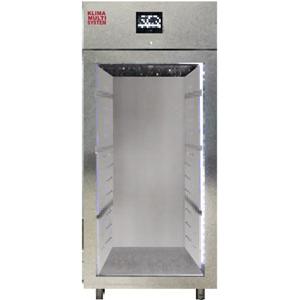 Шкаф для созревания мяса, салями, сыров,  800л, 1 дверь стекло, 4 полки, ножки, -2/+40C, дин.охл., 4 пары направляющих, нерж.сталь