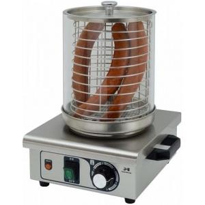 Аппарат для хот-догов паровой, настольный, цилиндр для сосисок, без штырей для булочек, электромех.управление, корпус нерж.сталь+крашеный металл