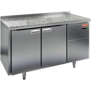Стол морозильный, GN1/1, L1.39м, борт H50мм, 2 двери глухие, ножки, -10/-18С, нерж.сталь, дин.охл., агрегат справа, столешница камень