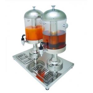 Диспенсер для сока двойной ( 2 колбы по 6 л.2 трубки для льда.) Колба- прозрачный поликарбонат, подставка нержавеющая сталь.