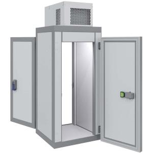 Камера морозильная Шип-Паз,   1.44м3, h2.12м, 2 двери расп.универсальные, ППУ80мм, потолочный моноблок (-18С), сквозная, 6 полок