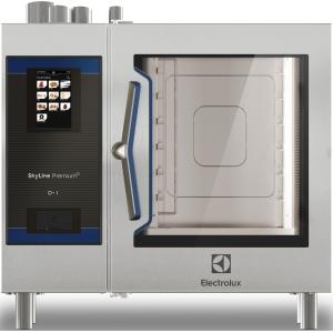Пароконвектомат газовый бойлерный,  6GN1/1, сенсорное управление, щуп, душ, автоматическая мойка, магистр.газ