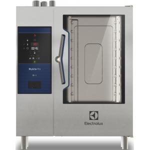 Пароконвектомат газовый инжекторный, 10GN1/1, электронное управление, щуп, автоматическая мойка, магистр.газ