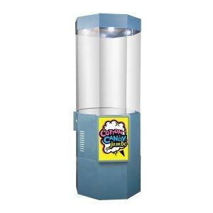 Тележка для аппарата сахарной ваты, восьмигранная, защитный экран, лайтбокс, подсветка (Уценённое)