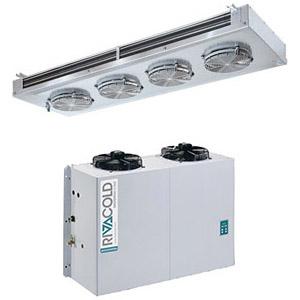 Сплит-система холодильная, для камер до  73.40м3, +2/+10С, крепление вертикальное, двойной поток воздуха