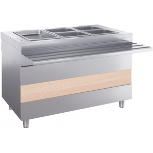 Мармит электрический для вторых блюд, L1.20м, 3GN1/1, нагрев сухой, стенд закрытый, нерж.сталь, отверстия под полку, направляющие