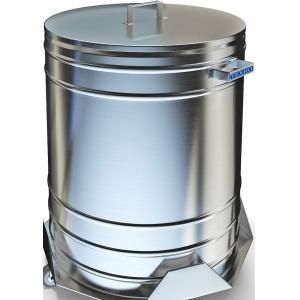 Бак для пищевых отходов,  50л, нерж.сталь 304, ручки