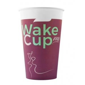 Стакан бумажный для горячих напитков WakeMeCup 400мл