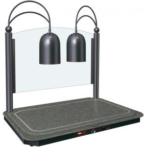 Станция карвинговая, 2 лампы, античная бронза+чёрный камень