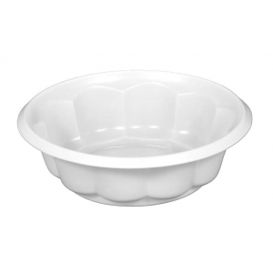 Тарелка 115мм РОЗЕТКА пластик белый