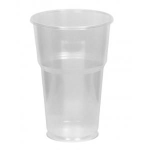 Стакан для пива 330мл пластик прозрачный