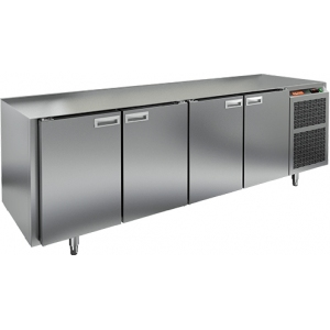 Стол холодильный, GN1/1, L2.28м, без столешницы,  4 двери глухие, ножки, -2/+10С, нерж.сталь, дин.охл., агрегат справа